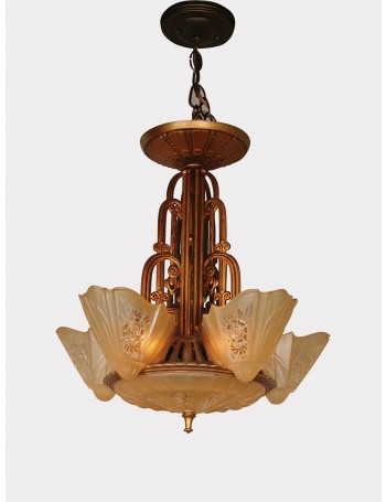 Arrow Tear Drop Shaped Contemporary Ceiling Pendant Light in Polished Copper